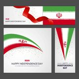 Happy Iran independence day Banner and Background Set. This Vector EPS 10 illustration is best for print media, web design, application design user interface royalty free illustration
