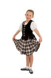 Happy Irish Dancer Girl Stock Photo