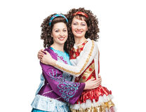 Happy Irish dancers Stock Photo