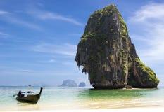Happy Island with boat Stock Photo
