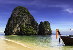 Happy Island on Phra Nang beach Stock Photo