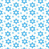 Happy Israel Independence Day seamless pattern with flags and bunting. Jewish Holidays endless background, texture Royalty Free Stock Image