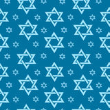 Happy Israel Independence Day seamless pattern with flags and bunting. Jewish Holidays endless background, texture royalty free illustration