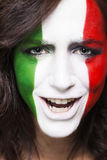 Happy italian supporter for FIFA 2014 closeup stock images