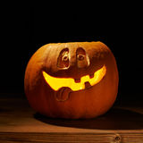 Happy jack o lantern pumpkin composition Stock Photo