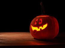 Happy jack o lantern pumpkin composition Stock Photos