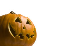 Happy Jack O' Lantern on White Stock Image
