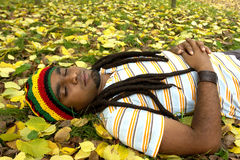Happy Jamaican sleeping Royalty Free Stock Image