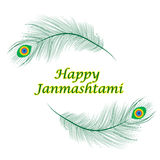 Happy janmashtami, Indian feast of the birth of Krishna. royalty free illustration