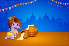 Happy Janmashtami wallpaper background Stock Image