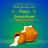 Happy Janmashtami wallpaper background Royalty Free Stock Photos