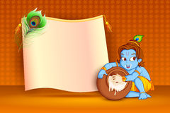 Happy Janmashtami wallpaper background Royalty Free Stock Photo
