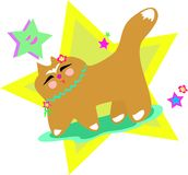 Happy Japanese Cat Stock Images
