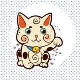Happy Japanese cat Maneki-neko. Traditional mascot Stock Photos