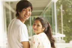 Happy japanese couple Royalty Free Stock Images