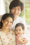 Happy japanese family Royalty Free Stock Photography