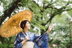 Happy Japanese girl Royalty Free Stock Photography