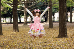 Happy japanese lolita Stock Images