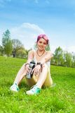Happy jogger woman Royalty Free Stock Photo
