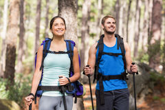Happy joggers standing Royalty Free Stock Photo