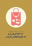 Happy Journey Card Royalty Free Stock Images