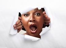 Happy joyful afro-american woman royalty free stock images