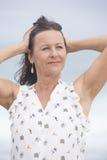 Happy joyful attractive mature woman Royalty Free Stock Photos