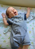 Happy Joyful Baby. In cutest outfit royalty free stock photography