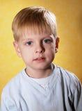 Happy joyful beautiful little boy Stock Images