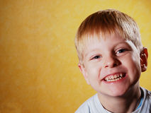 Happy joyful beautiful little boy Royalty Free Stock Images