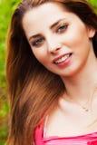 Happy joyful cheerful young woman Stock Photography