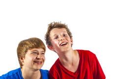 Happy joyful friends enjoy life Stock Images