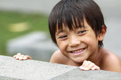 Happy joyful little boy Royalty Free Stock Photography