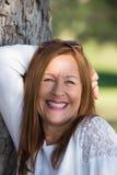Happy joyful woman confident outdoors Royalty Free Stock Photography