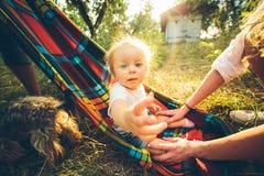 Happy joyful young family Royalty Free Stock Photos