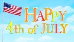 Happy July 4 Greeting Royalty Free Stock Photo