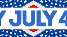 Happy July 4 Independence Day Video stock footage