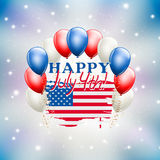Happy July 4th celebration illustration USA independence day. Theme. vector royalty free illustration