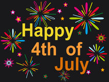 Happy july 4th firework background Stock Photos