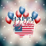 Happy July 4th illustration USA independence day Stock Image
