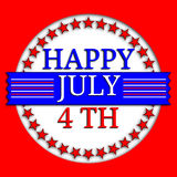 Happy July 4th. An image of a Happy July 4th Banner royalty free illustration