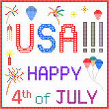 Happy July 4th in Pixels Stock Photos