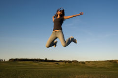 Happy jump Royalty Free Stock Image