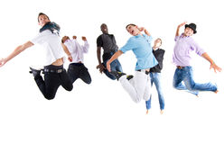 Happy jumping Stock Images