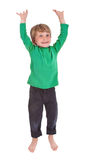 Happy jumping boy Royalty Free Stock Photos