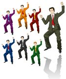 Happy jumping businessman Stock Images