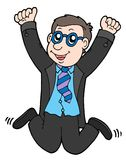 Happy jumping businessman 2 Stock Photo