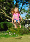 Happy jumping child