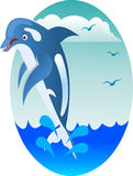 Happy jumping dolphin Royalty Free Stock Photography