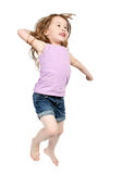 Happy jumping girl Royalty Free Stock Photography